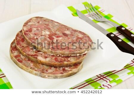 Fatia músculo pepino cebola comida restaurante Foto stock © samsem