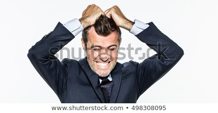 üzletember dühroham férfi mérges rajz sikít Stock fotó © blamb