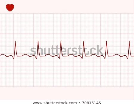 сердце · сердцебиение · символ · прибыль · на · акцию · легкий - Сток-фото © beholdereye
