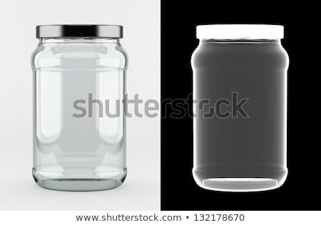 Vazio vidro jarra alfa máscara alumínio Foto stock © creisinger