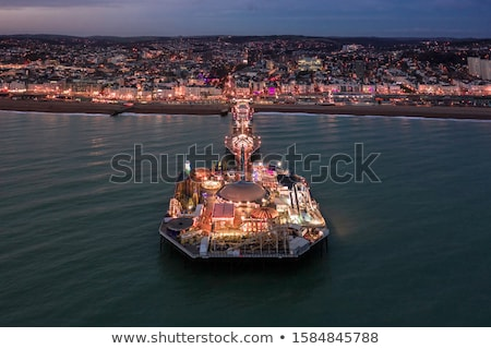 Photo stock: Pier · Angleterre · vers · le · bas · ouest · sussex · caillou