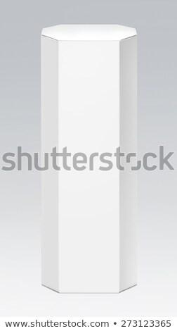 Papír nyújtott csomagol doboz étel fehér Stock fotó © butenkow