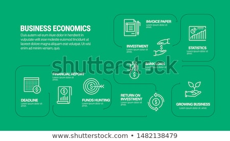 Real paper for infographics stock photo © Ansonstock