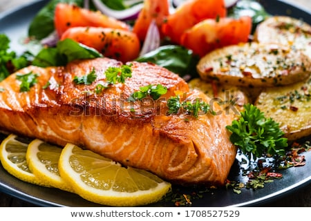 魚 シーフード ディナー 静物 白 ストックフォト © DonLand