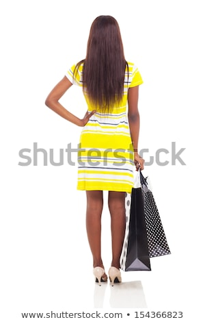 Сток-фото: моде · модель · женщину · корзина · изолированный · черный