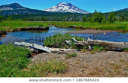 South Sister and Highway Stock photo © jkraft5