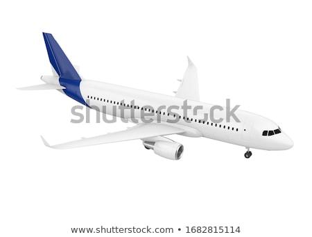 Handlowych jet płaszczyzny ilustracja samolot Zdjęcia stock © patrimonio