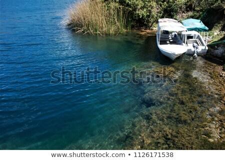 The Shoreline of Lake Cuicocha Stock photo © rhamm