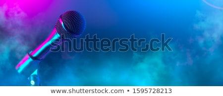 microphone in the night colorful light stock photo © lunamarina