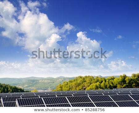Clean electric energy solar plates generators Stock photo © lunamarina