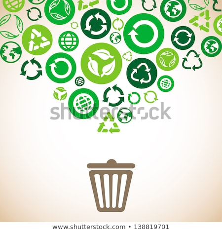 earth globe in a recycle bin stock photo © kirill_m
