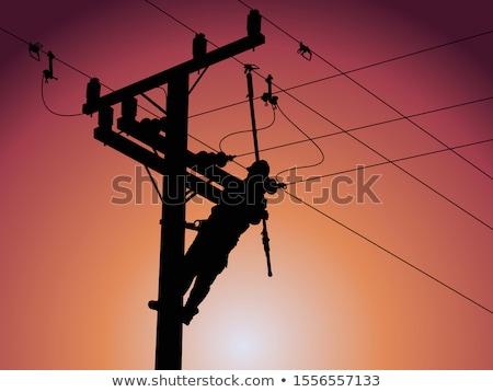 línea · cable · electricista · paso · escalera · industria - foto stock © Lighthunter