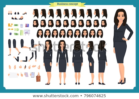 A Young Business Woman Posing from SIde stock photo © 805promo