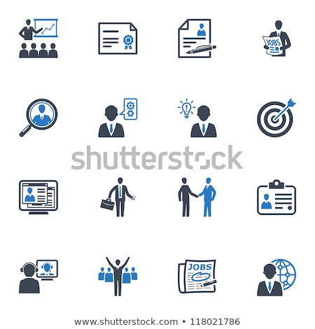 Magnifying Glass with ID Card Icon. Stock photo © tashatuvango