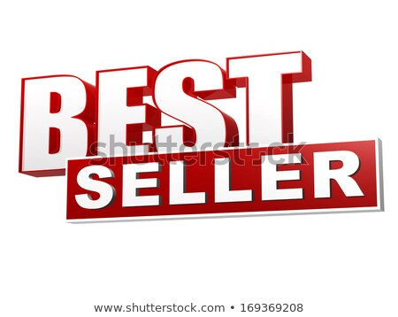 best seller red white banner - letters and block Stock photo © marinini