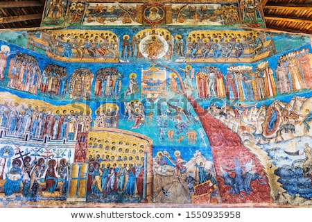 Voronet Monastery - Last Judgement painting Stock photo © ifeelstock
