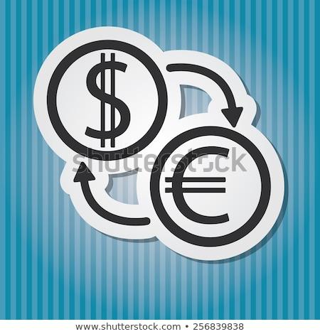 ezüst · dollár · szimbólumok · kék · üzlet · pénzügy - stock fotó © pxhidalgo