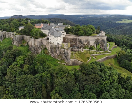 Stock photo: Saxon Switzerland fortress Konigstein