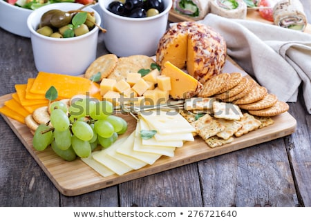 grapes and drinks on cutting board  stock photo © epstock