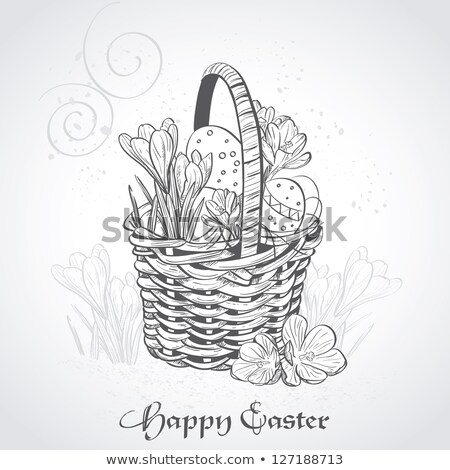 egg basket   vintage effect stock photo © frannyanne