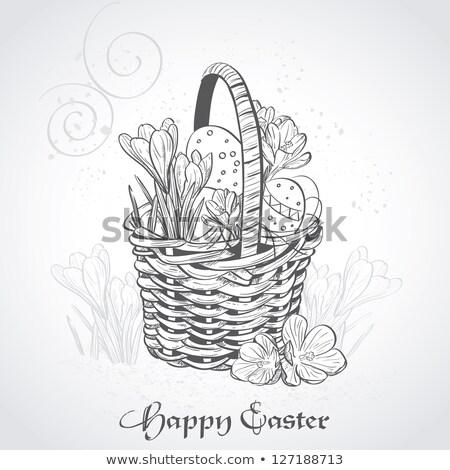 egg basket   vintage effect stock photo © frannyanne