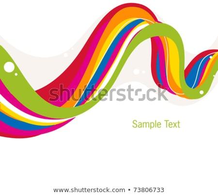 Kleurrijk golf pijl abstract achtergrond behang Stockfoto © rioillustrator