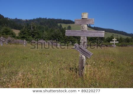 Velho cruzes histórico ortodoxo cemitério forte Foto stock © meinzahn