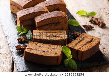 スライス ケーキ アニス 食品 パン ストックフォト © M-studio