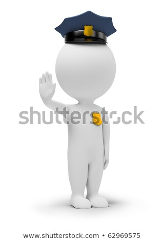 3d small people   policeman stock photo © anatolym