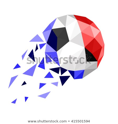 Soccer ball with France flag on pitch Stock photo © stevanovicigor