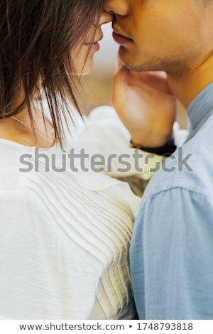 страстный поцелуй привлекательный вечер Сток-фото © belahoche
