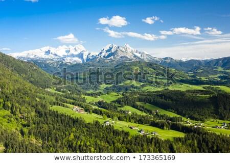 Vue ouest Autriche paysage neige montagnes Photo stock © phbcz
