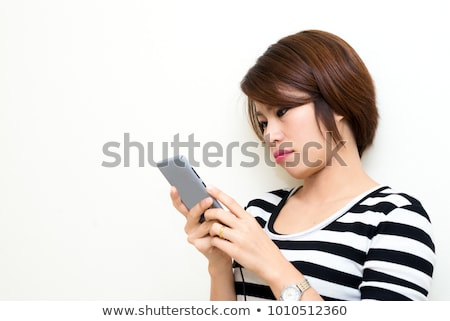 Asian young woman looking bored Stock photo © bmonteny