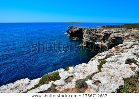 plaj · ada · İspanya · ahşap - stok fotoğraf © diabluses