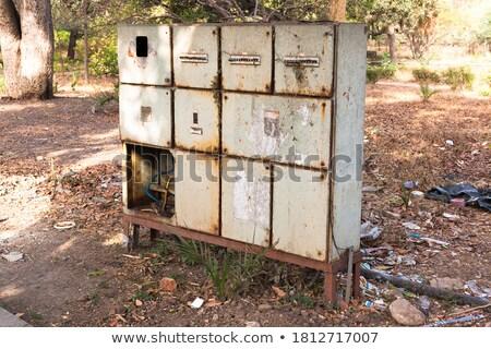 Antiquado verde controlar caixa sujo Foto stock © lucielang