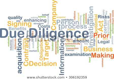 Due Diligence - Wordcloud Concept. Stock photo © tashatuvango