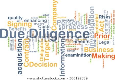 due diligence   wordcloud concept stock photo © tashatuvango