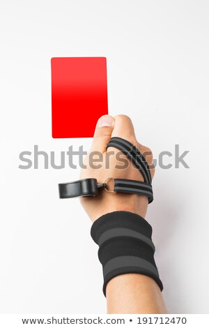 Referee hand and whistle show Red card to player  Stock photo © hin255