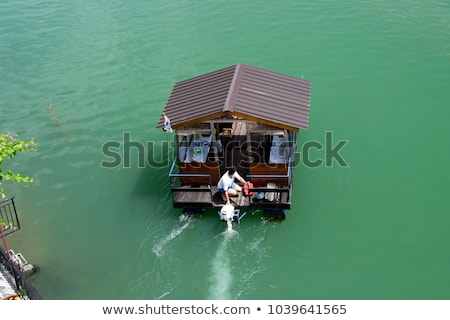 Motor судно реке порт воды дерево Сток-фото © alexandre17