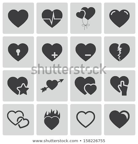 Amore cuore icona chiave online san valentino Foto d'archivio © NiroDesign