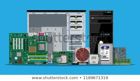 puce · main · paire · technologie · carte - photo stock © oleksandro