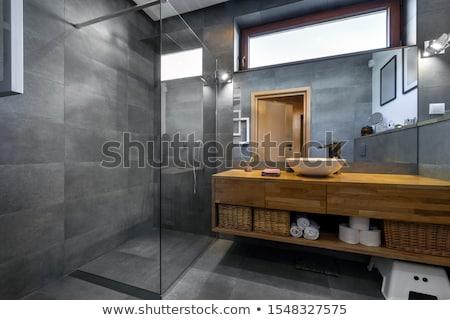 Elegáns fürdőszoba belső fotó alkotóelem fény Stock fotó © maknt