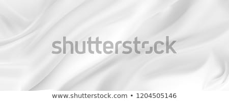 Beyaz saten kumaş arka plan dalga ipek Stok fotoğraf © ozaiachin