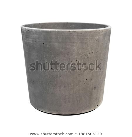 Noir isolé blanche contenant pot Photo stock © ozaiachin