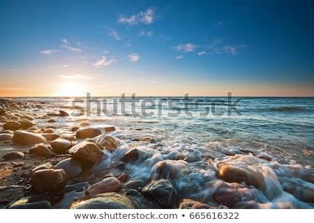 Pôr do sol mar báltico água natureza mar fundo Foto stock © pixelman