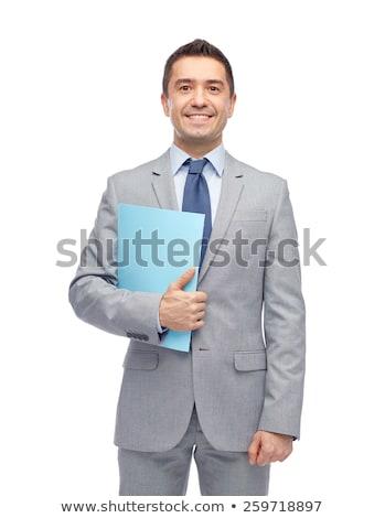 adó · üzletemberek · csapat · áll · kék · szó - stock fotó © andreypopov