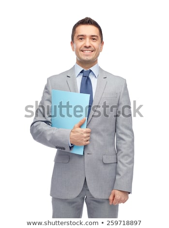 Businessman Holding Tax Folder Stock photo © AndreyPopov
