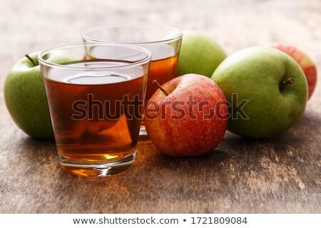 Sok jabłkowy pić szkła dzban jabłko Zdjęcia stock © frannyanne