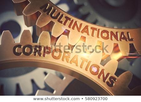 経済の · 協力 · 金属 · 歯車 · メカニズム · 通信 - ストックフォト © tashatuvango
