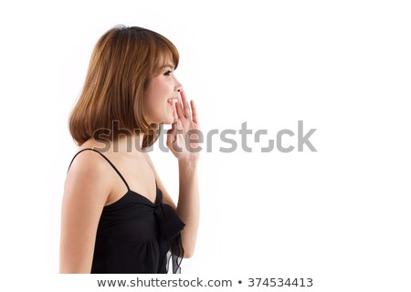 Happy mature woman talking loudly Stock photo © wavebreak_media
